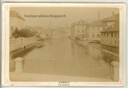 Photo CAB. ANNECY. Les Canaux. Photographe Neurdein Ca1890 - Photos