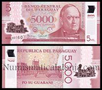 Paraguay 5000 Guaraníes 2016 (2017) Pick New 234b Polymer SC UNC - Paraguay