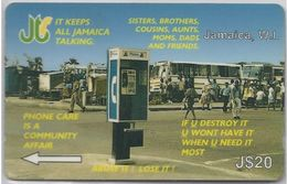 JAMAICA - PHONEBOX VANDALISM - 14JAMD - Jamaica