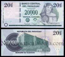 Paraguay 20000 Guaraníes 2015 (2017) Pick 238 New Serie G SC UNC - Paraguay