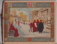 2 Deux Livrets RIAORDO DI FIRENZE - Souvenirs Florence Italie -124 Vues -images Peintures -vers 1900 Editore G Galletti - Dépliants Touristiques