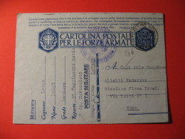 CARTOLINA POSTALE PER LE FORZE ARMATE -   CAMPO D ARMA LAVENO - D 2358 - Guerra 1939-45