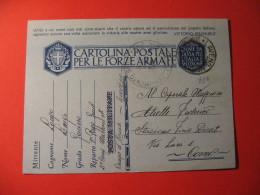 CARTOLINA POSTALE PER LE FORZE ARMATE -   CAMPO D ARMA LAVENO - D 2360 - Guerra 1939-45