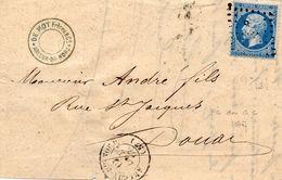 Nord - Devant De L Affr N° 22 Obl PCduGC 167 Arleux-du-Nord - Càd Type 15 (combinaison Rare!) - Storia Postale