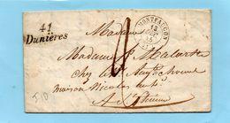 """Cursive """"41 DUNIERES"""" Associée Au C 15 MONTFAUCON - 1801-1848: Precursors XIX"""