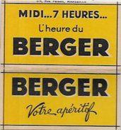 Papier à Cigarettes Publicité Publicitaire Complet De Ses Feuilles BERGER - Objets Publicitaires