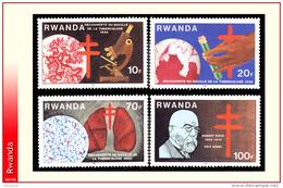 Rwanda 1122/25**  Robert Koch MNH - Rwanda