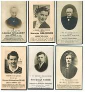Lot 184 6 Bidprentjes Foto W-VL Westrozebeke, Esen, Vladslo, Sint-Michiels, Torhout, Beveren, Roeselare, Ichtegem - Images Religieuses