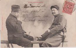 Militaria- Militaire : A La  Chambrée  ( Posté A  Falaise) - Humoristiques