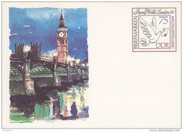 DDR  P 105, Postkarte, Postfrisch, STAMP WORLD LONDON '90 - Postkarten - Ungebraucht
