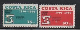 MNH COSTA RICA 1969 50 Anniversary Of ILO Scott C492-493 - Costa Rica