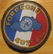 Écusson Tissu Du 403° Bataillon De Soutien Logistique De La FORPRONU - UNPROFOR FRELOGBAT - Ecussons Tissu