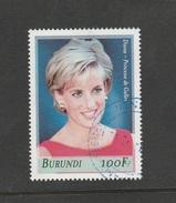 9] 1 Timbre Oblitéré Circulé 1 Circulated Cancelled Stamp Burundi Diana Lady Di Princesse Princess Famille Royale - Burundi