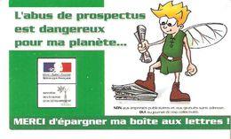 AUTOCOLLANT STICKER ECOLOGIE L'ABUS DE PROSPECTUS EST DANGEREUX POUR MA PLANETE...EPARGNER MA BOITE AUX LETTRES - Autocollants