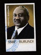 9] 1 Timbre Oblitéré Circulé 1 Circulated Cancelled Stamp Burundi NON Dentelé IMPERFORATED President Ndayizeye Domitien - Burundi