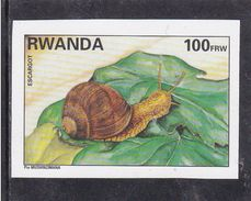 9] 1 Timbre ** NON Dentelé 1 Stamp ** IMPERF Rwanda Escargot Snail - Rwanda