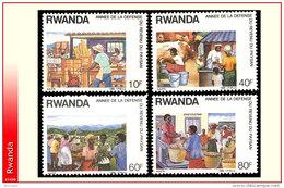 Rwanda 1320/23**  Revenu Du Paysan   MNH - 1980-89: Neufs