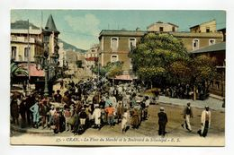 Oran - La Place Du Marche Et Le Boulevard De Sebastopol - Oran