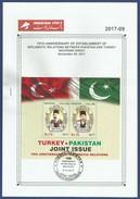 PAKISTAN 2017 MNH LEAFLET 70TH ANNIVERSARY OF DIPLOMATIC RELATION BETWEEN TURKEY AND PAKISTAN POET IQBAL - Pakistan