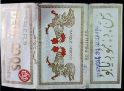 Turkey,Ottoman,France,PAPER OF CIGARETTES #1916 Deux Coqs,VF.. - Cigarette Holders