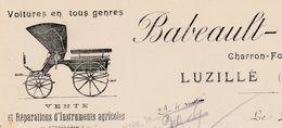 Facture 1910 / BABEAULT GAILLARD / Charron Forgeron / 37 Luzillé / Canton Bléré / Indre Et Loire - Autres