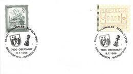 Austria 1988 Oberwart Chess Tournement ATM FRAMA Meter Franking Card - Schaken