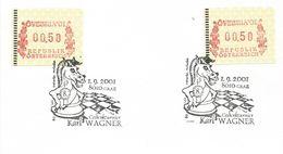 Austria 2001 Graz Chess Tournement ATM FRAMA Meter Franking Card - Schaken
