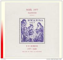 Rwanda BL 079** Nativité Rubens MNH - Rwanda