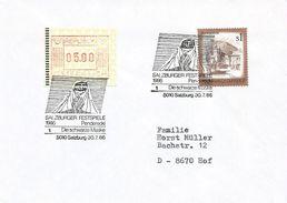 Austria 1986 Salzburg Composer Krzysztof Penderecki Opera Classical Music Festival ATM FRAMA Meter Franking Cover - Musique