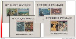 Rwanda BL 086/89** Les Impressionnistes  MNH - Rwanda