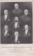 FRANCE CARTE POSTALE  LES PRESIDENTS DE LA REPUBLIQUE DEPUIS 1871 - People
