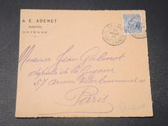 GUYANE - Devant D 'enveloppe Commerciale De Cayenne Pour Paris  En 1920 -  L 10742 - Guyane Française (1886-1949)