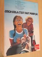 Page De Revue Des Années 70/80 : PUBLICITE COCA-COLA ; Dimensions :  Page A4 - Coca-Cola