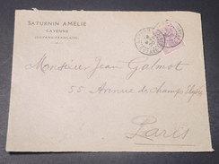 GUYANE - Devant D 'enveloppe Commerciale De Cayenne Pour Paris En 1920  -  L 10746 - Guyane Française (1886-1949)