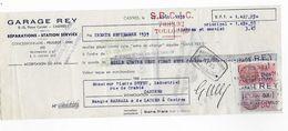 Vp73 - Garage REY Castres Station Service Concessionnaire PEUGEOT UNIC  1939 - Lettres De Change