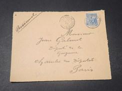 GUYANE - Devant D 'enveloppe Commerciale De Cayenne Pour Paris En 1920  -  L 10747 - Guyane Française (1886-1949)