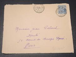GUYANE - Devant D 'enveloppe De Cayenne Pour Paris En 1920  -  L 10750 - Guyane Française (1886-1949)