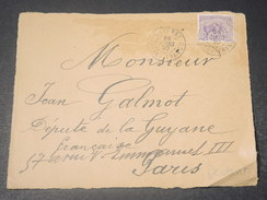 GUYANE - Devant D 'enveloppe De Cayenne Pour Paris En 1920  -  L 10752 - Guyane Française (1886-1949)
