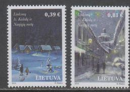 LITHUANIA, 2016, MNH, CELEBRATIONS, CHRISTMAS, 2v - Kerstmis