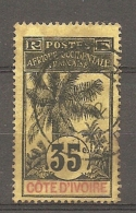 COTE IVOIRE - Yv. N° 29  (o)  35c  Palmier Cote 6,50 Euros   BER  2 Scans - Ivory Coast (1892-1944)