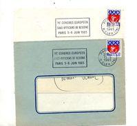 Devant De Lettre Flamme Paris Congres Sous-officier Reserve - Maschinenstempel (Werbestempel)
