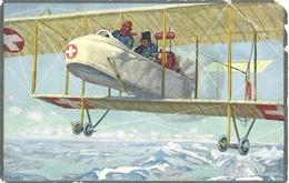 Hoch überm Schweizerland (Militärflugzeug) BERN 30.XII.16 BUNDESHAUS Geniechef Der Eidg.Armee - Der Adjutant: - Poste Aérienne