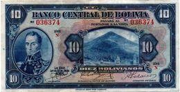 1928 KP 121 DIEZ BOLIVIANOS. PRIMERA EMISION. BIEN CONSERVADO. - Bolivia