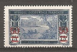 COTE IVOIRE - Yv. N°  107  *   50 S 75c    Cote  2,8 Euro  BE R 2 Scans - Ivory Coast (1892-1944)
