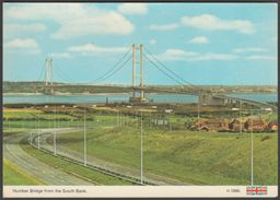 Humber Bridge From The South Bank, Barton-upon-Humber, Lincolnshire, C.1980 - ETW Dennis Postcard - England