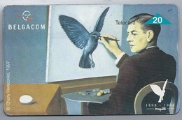 BE.- België. Telecard.- BELGACOM. Le Clairvoyance. De Helderziende. René Magritte. Charly Herscovici, 1997. 821C - GSM-Kaarten, Herlaadbaar & Voorafbetaald