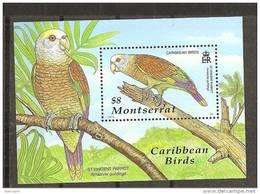 Montserrat2001:Yvert Block86mnh** - Parrots