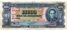1945 KP151 DIEZ MIL BOLIVIANOS / MIL BOLIVARES. SEGUNDA EMISION. MUY BUENO. - Bolivia