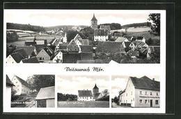 AK Veitsaurach / Mfr., Gasthaus Arnold, Kirche Mit Schulhaus, Kolonialwarengeschäft - Allemagne
