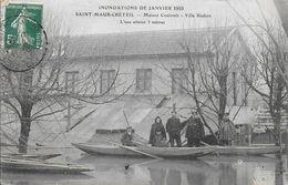 94)  SAINT  MAUR  CRETEIL  - Maison Coulomb - Villa Shaken  - L' Eau Atteint 3 Mètres - Inondations De Janvier 1910 - Saint Maur Des Fosses